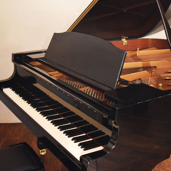 調律済みのグランドピアノ